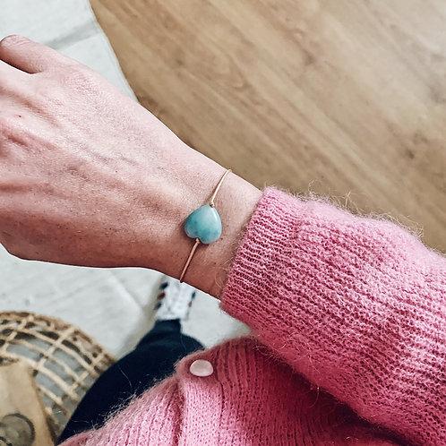 Bracelet coeur - Amazonite