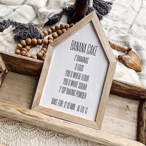 Cadre en bois - Banana Cake