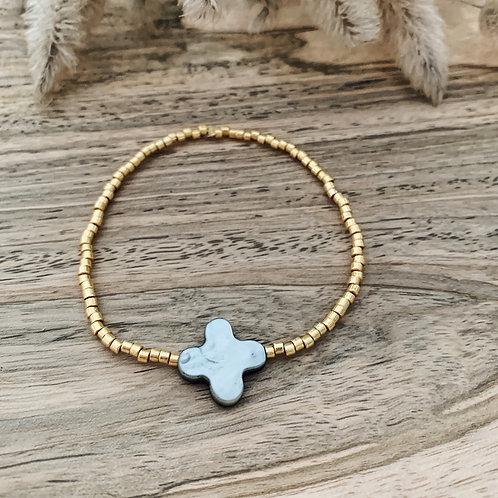 Bracelet Chance - Gris/Doré