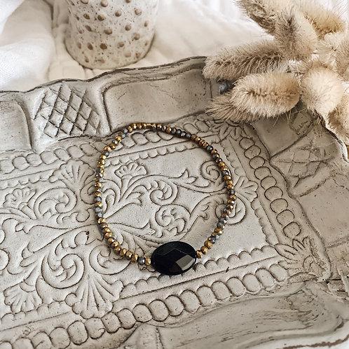 Bracelet Alba - Pierre noire