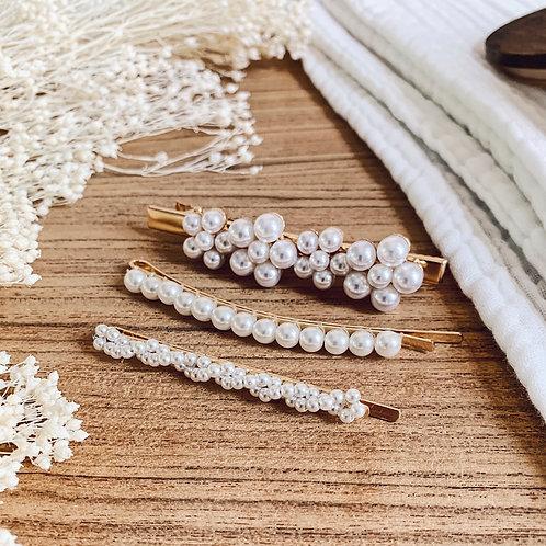 Lot de barrettes avec perles - N°5