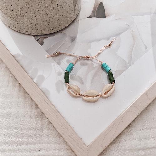 Bracelet Acapulco - Kaki/turquoise