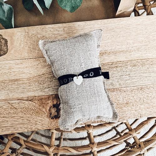 Bracelet Brazil noir - Nacre/Coeur
