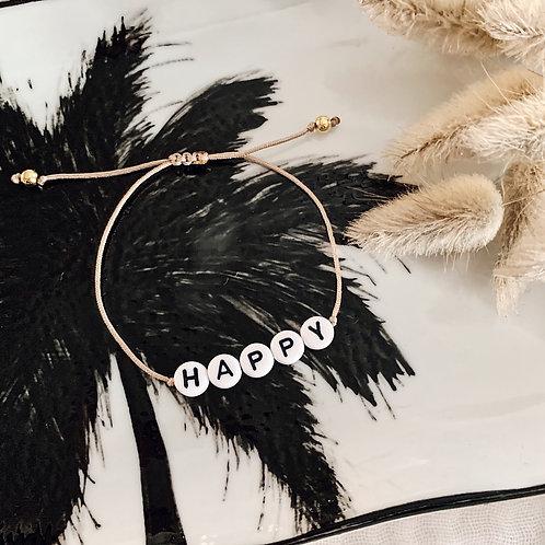 Bracelet Happy - Blanc