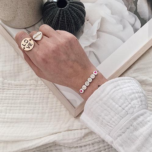 Bracelet Love/coeurs - Doré