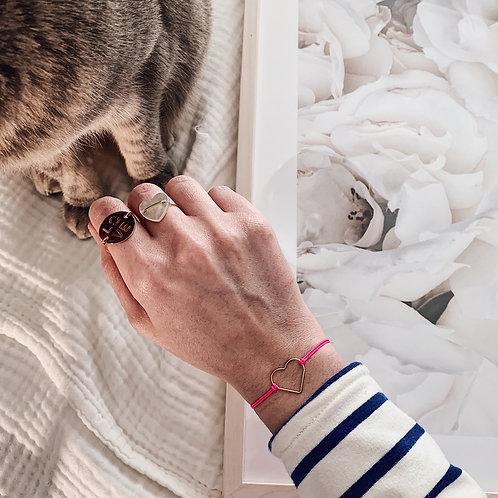 Bracelet Amore - Grand / Rose fluo