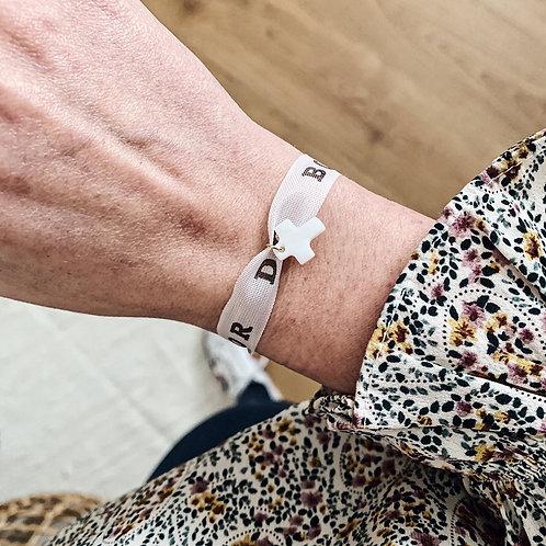 Bracelet Brazil blanc - Nacre/Croix