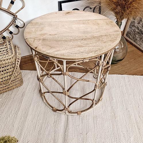 Table basse en manguier et bambou