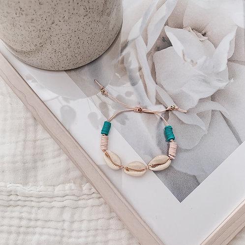 Bracelet Acapulco - Nude/turquoise