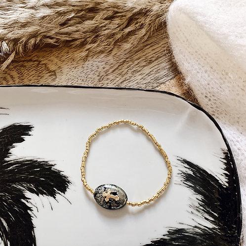 Bracelet Maria - Doré/noir