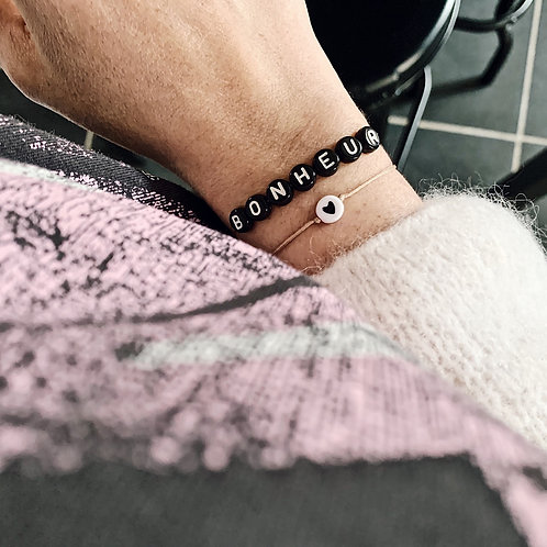Bracelet Bonheur - Noir