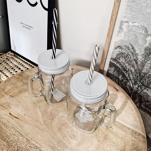 Mason Jar - Blanc