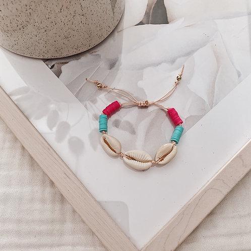 Bracelet Acapulco - Turquoise/fuchsia
