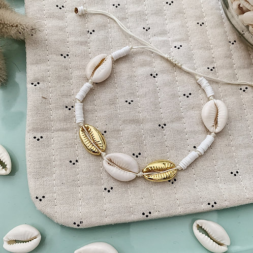 Bracelet cheville Acapulco - Blanc