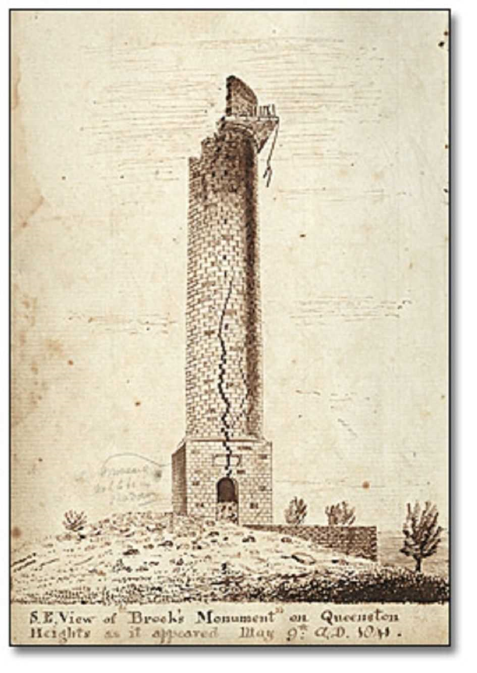 Brock's Monument, Queenston Heights, Ontario, Canada. Niagara Falls Public Library, Record ID 89768. Wikimedia Commons.