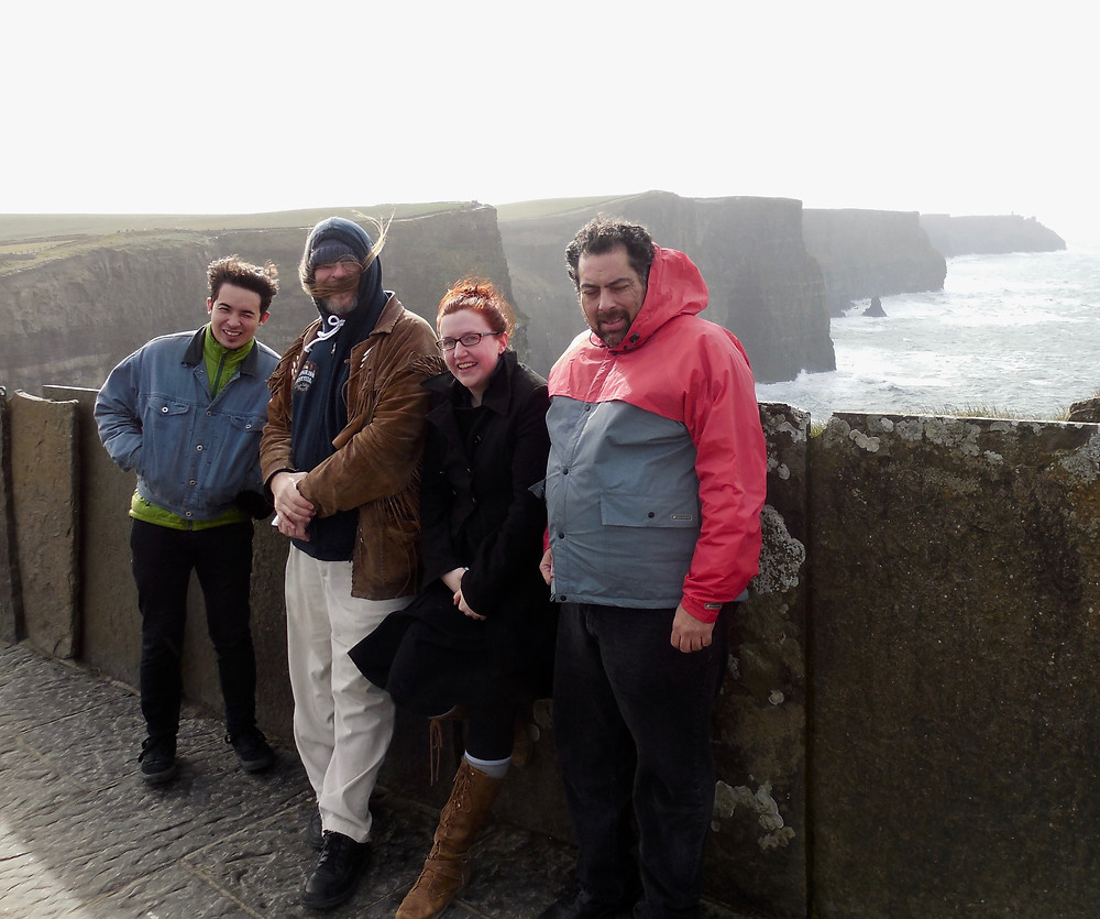 The gang at the Cliffs of Moher.
