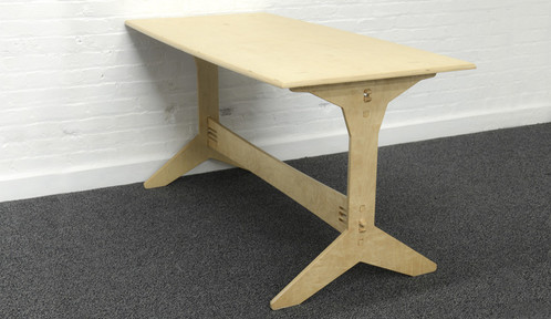 ... Table Features Clever Use Of Plywoodu0027s Natural Flexibility To Create  Snap Together, Interlocking Joints For Easy Tools Free Assembly And  Disassembly.