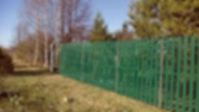 забор из металлоштакетника  в торжке