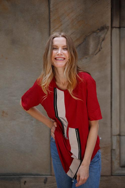 U 24 Unisex Men Women street fashion modern design red T-shirt