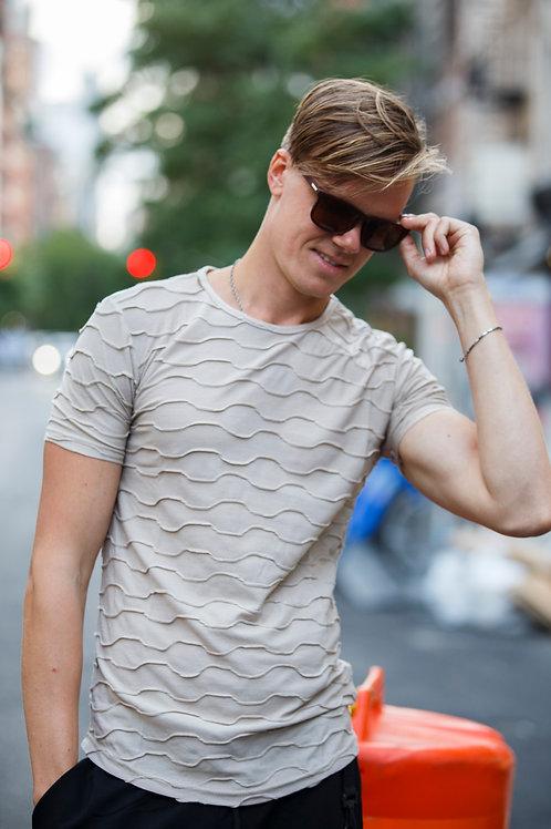 U 45 Unisex Men Women  street fashion beige  T-shirt