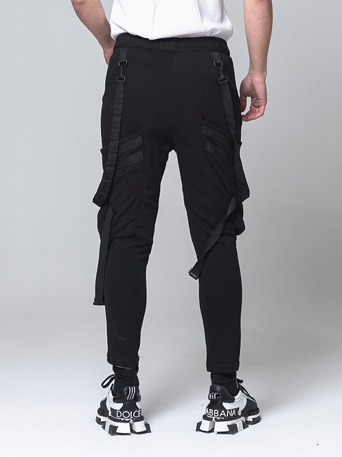 Syno Jogger Hip Hop Dance style Cargo Black Pant