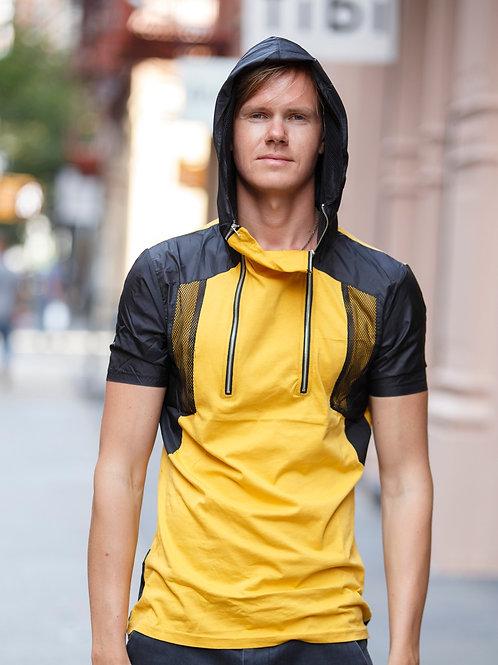 U 12 Unisex Men Women street fashion modern design Yellow Hoodie T-shirt