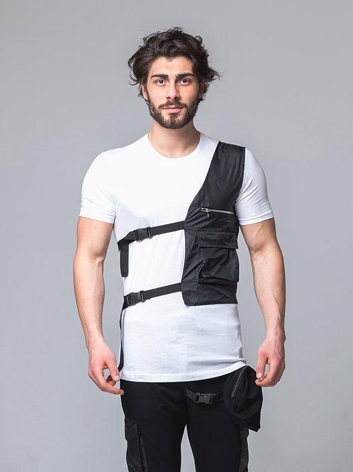 Syn-o T29 Designed Vest Pocket Hip Hop Street fashion T-shirt