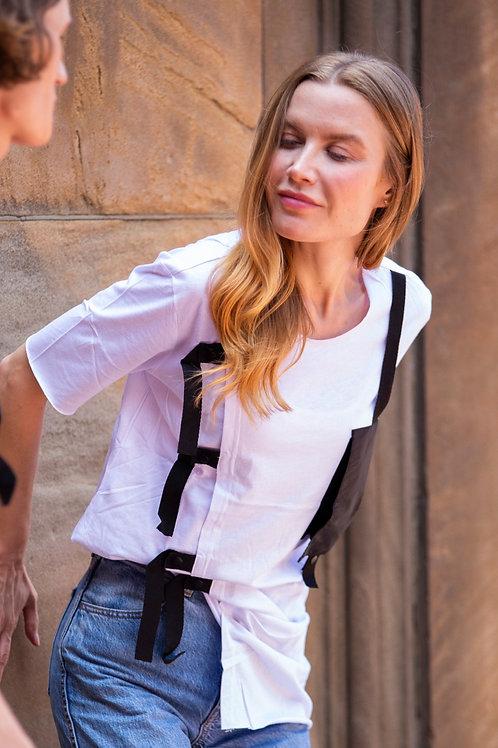 U 26 Unisex Men Women street fashion modern design white T-shirt