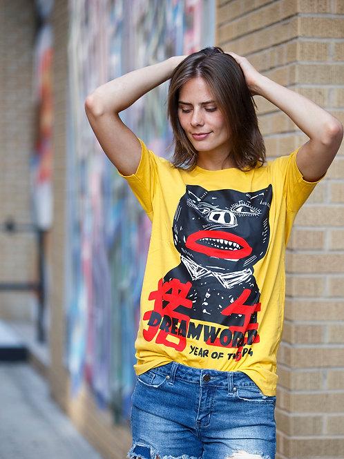 U 16 Unisex Men Women street fashion modern design yellow graphic  T-shirt