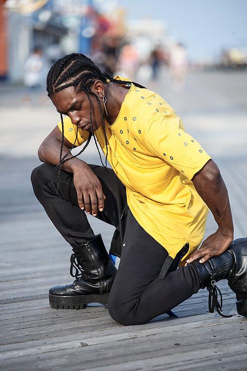 Z 16 Unisex Men Women  street fashion  yellow T-shirt