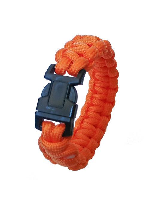 "9"" Army Type Orange Fiber Bracelet Strap with Plastic Buck…"
