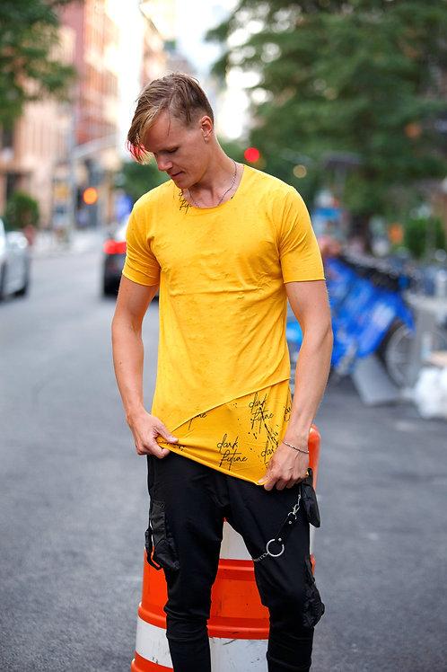 U 43 Unisex Men Women  street fashion yellow graphic design T-shirt