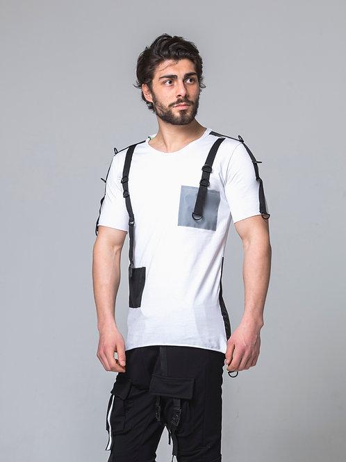 Syn-o T16 Designed Pocket Hip-Hop street fashion style T-shirt