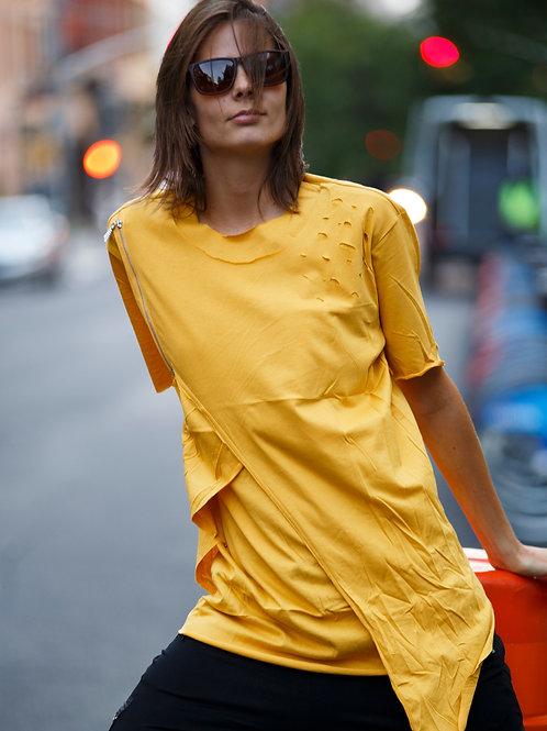 U 49 Unisex Men Women  street fashion yellow  T-shirt