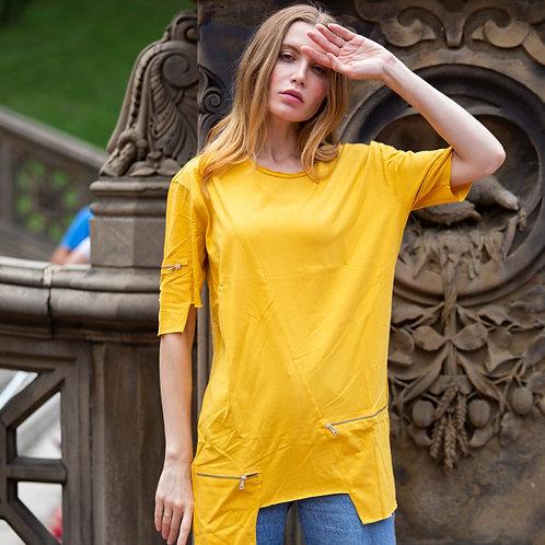 U 27 Unisex Men Women street fashion modern design yellow T-shirt