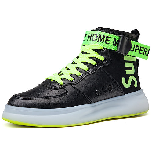 Syno S100 Stylish Comfy Black green  Hip Hop shoes