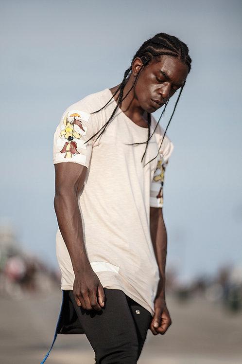 Z 15 Unisex Men Women  street fashion  beige graphic T-shirt