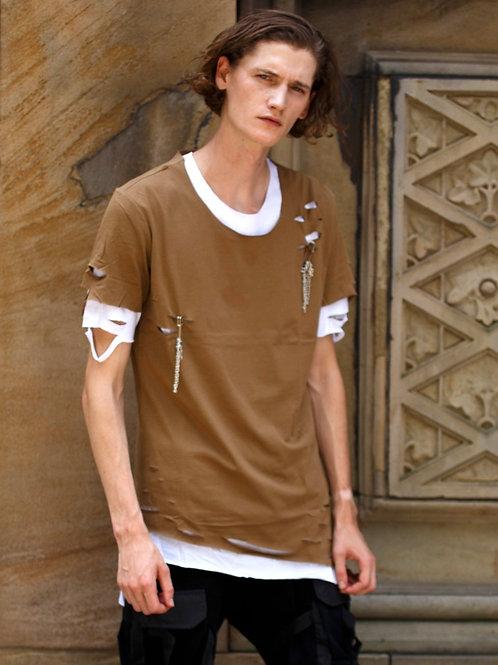 U 19 Unisex Men Women street fashion modern design Double layer T-shirt