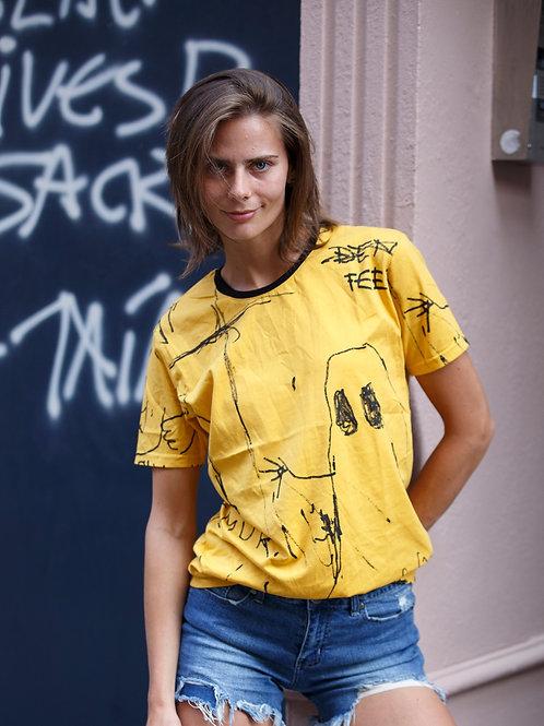 U 14 Unisex Men Women  street fashion modern design Yellow Graphic T-shirt