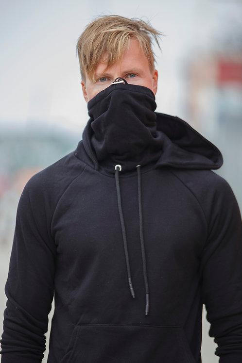 Covid19 Mask design Men Pullover Hoodie masked sweater Black D03