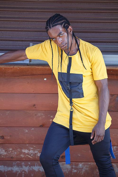 Z 05 Unisex Men Women  street fashion yellow T-shirt