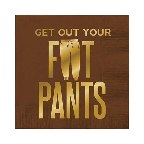 """Fat Pants"" Beverage Napkins"