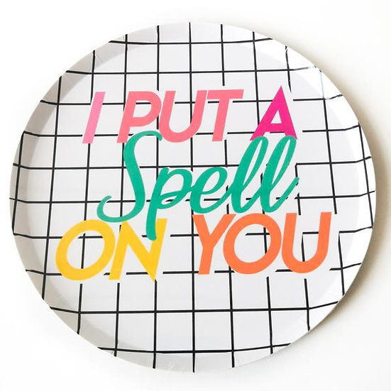 """I Put A Spell On You"" Paper Plate Pack ( Small)"