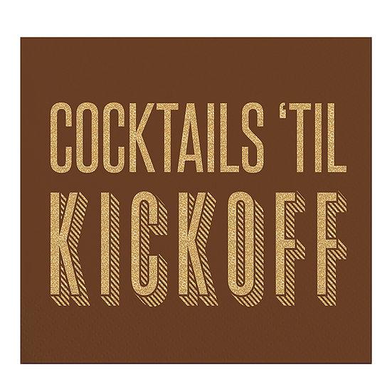 """""""Cocktails Til' Kickoff"""" Napkins"""
