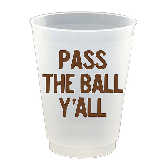 """Pass The Ball Yall"" - Party Cups"