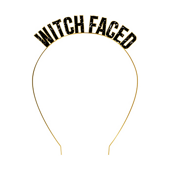 """Witch Faced"" Headband"