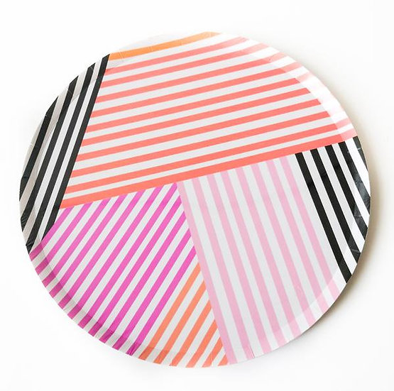 Halloween Stripes Paper Plate Pack ( Large)