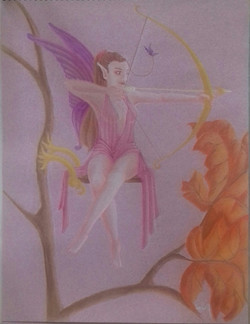 Portrait d'Aurore en fée archer commande