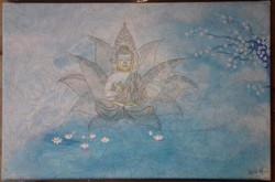 Bouddha lotus mandala