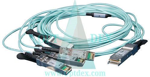 Extreme Networks 10327 MPO to 4xLC breakout patch cable SM 10m